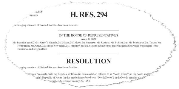H.Res.294. [출처 - congress.gov / 효과 - 이영재]